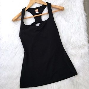 Lucy Black Racerback Tank Top with cutout